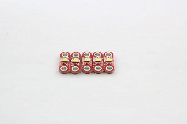 5 LilyPad LEDs warmweiß