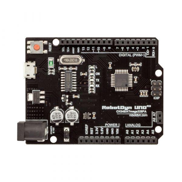 Robodyn Uno R3 Board ATmega328P, + A6-A7 pins, MicroUSB Arduino ...
