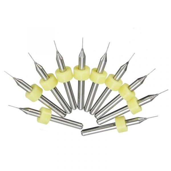 10x Mini Bohrer 0.3 mm für PCB Leiterplatten 3D-Drucker Düsen usw.