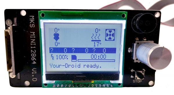 MKS Mini 12864 LCD mit vertikalem SD-Slot