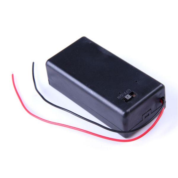 Gehäuse für 9V Batterien mit Ein/Aus-Schalter