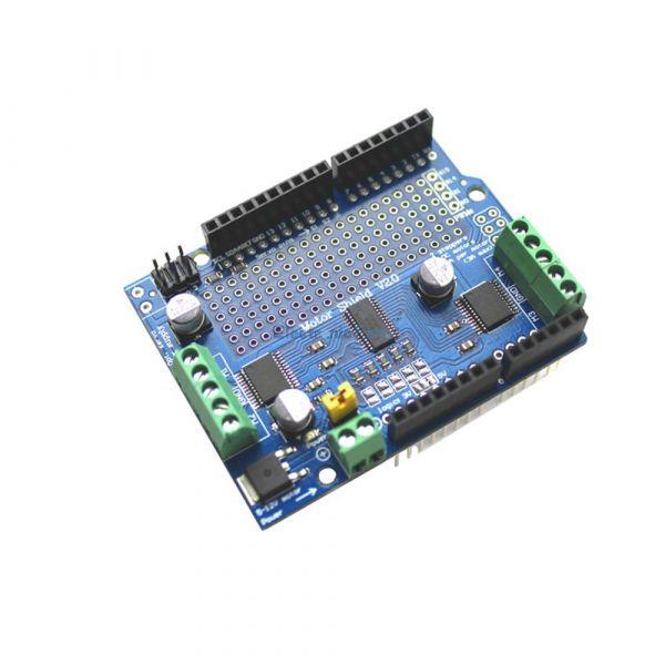 Adafruit MotorShield v2.3 /(Bausatz/) - Arduino-Shield für Motoren, Schrittmotoren und Servos