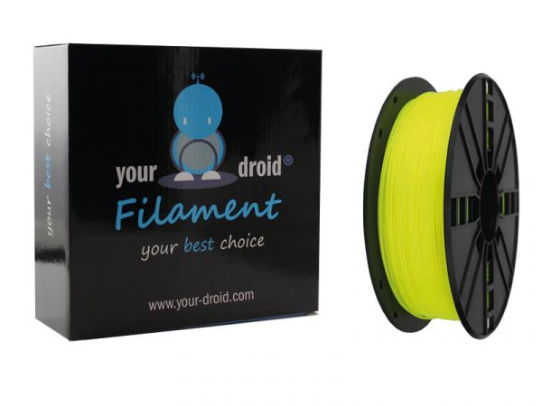 Your Droid ABS-Filament Fluorescent Yellow 1.75mm 1kg