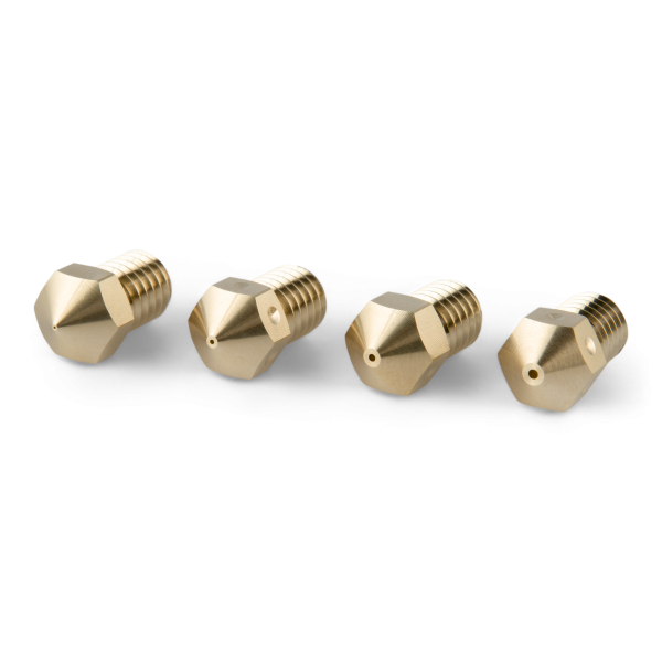 PrimaCreator M6 3mm Messingdüse Sortiment 4 Größen für Ultimaker 2+/Olsson Block