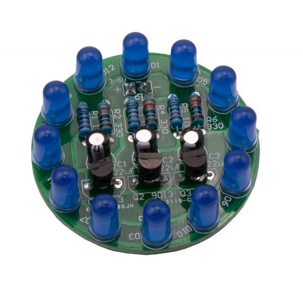 Bausatz LED-Lauflicht zum Löten blau
