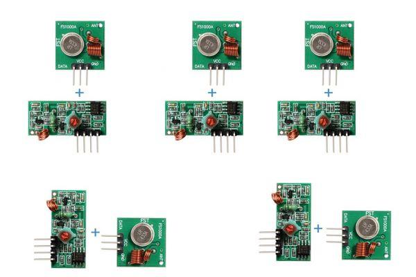 MX-05V 433MHz RF Funkmodul / Sender + Empfänger (5 Stück)