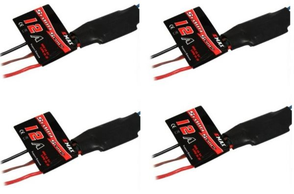 4 Stück EMAX Simon Series Brushless Speed Controller 12A