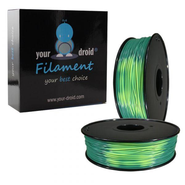 Filament PLA Colour change blue-green