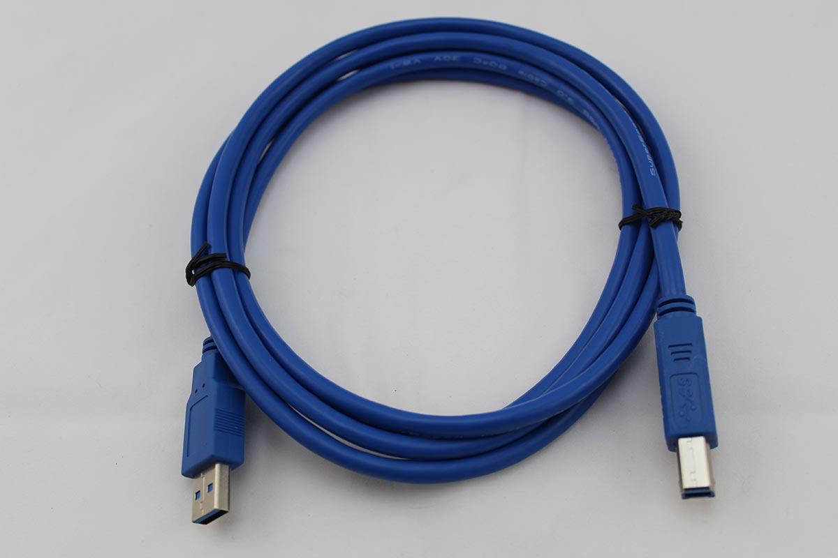 2m USB 3.0 Druckerkabel, A-Stecker auf B-Stecker, Vernickelt, Blau ...