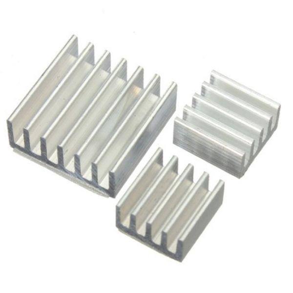 3x Aluminium Kühlkörper für Raspberry PI