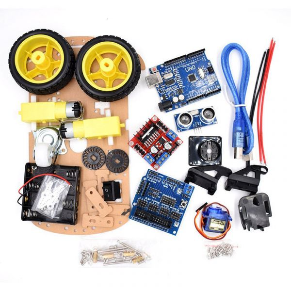 Bausatz 2WD Roboter Smart Car Arduino Kit