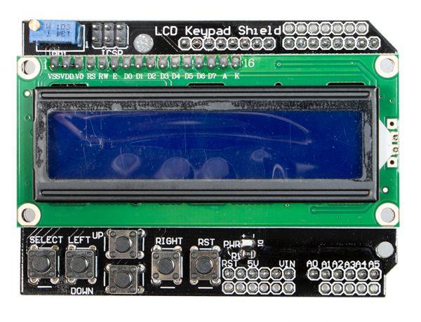 LCD Keypad Shield mit Display 1602