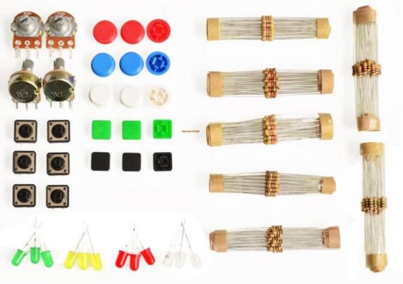 starter kit elektronischer bauteile widerst nde ect f r arduino raspberry pi roboter. Black Bedroom Furniture Sets. Home Design Ideas