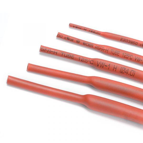 1m Schrumpfschlauch 2:1 Rot Φ10mm Meterware
