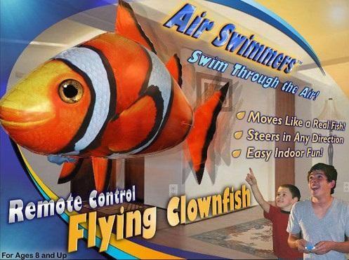 RC Air Swimming Flying Clown-Fish fliegender Fisch ferngesteuert