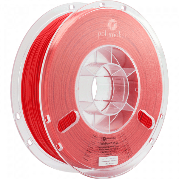Polymaker PolyMax PLA Filament Rot (red) 1.75mm 750g