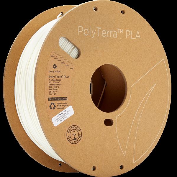 Polymaker PolyTerra PLA Filament Cotton White 1.75mm 1kg