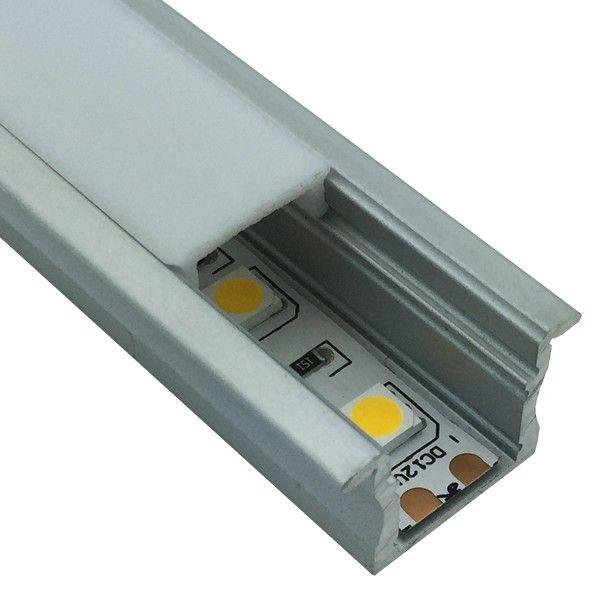 LED Einbau-Aluminiumprofilschiene mit flansch 1m