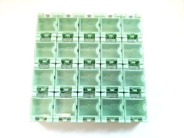 1x 20 Container Box (leer) für SMD Bauelemente - hellgrün