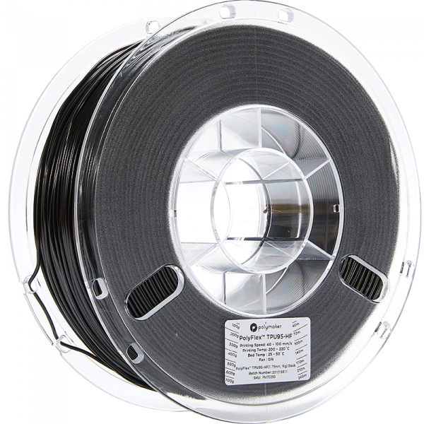 Polymaker PolyFlex TPU95-HF Schwarz 1.75mm 1kg