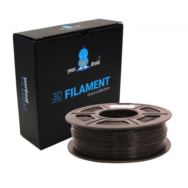 yourDroid PLA+ Filament 1.75mm schwarz