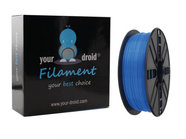 Your Droid ABS-Filament Fluorescent Blue 1.75mm 1kg