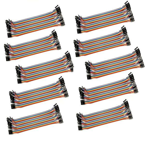 10x 40 Pin Dupont Kabel Buchse-Buchse 20 cm