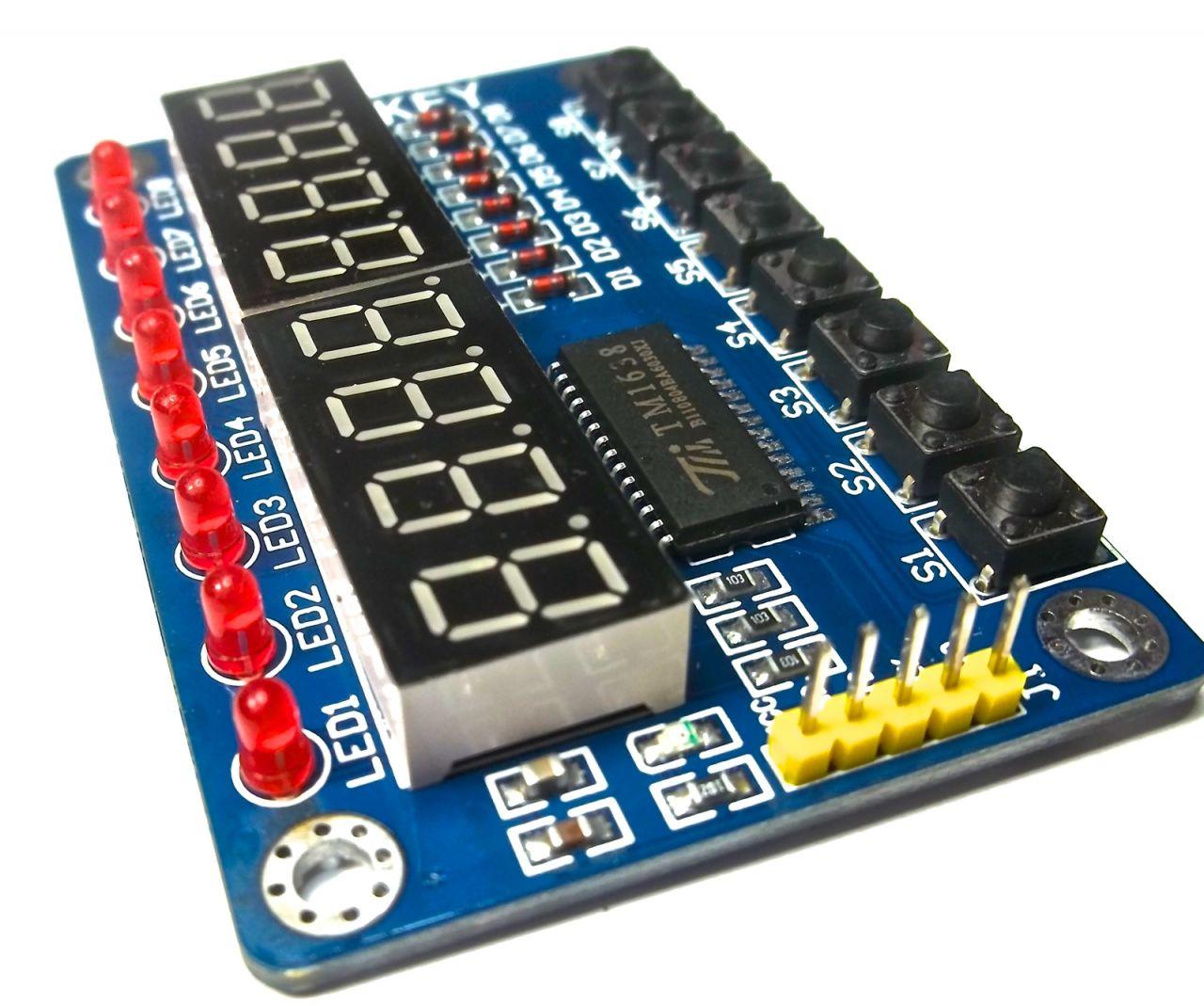 TM1638 8 Taster mit 8-stelligem Display und 8 LEDs