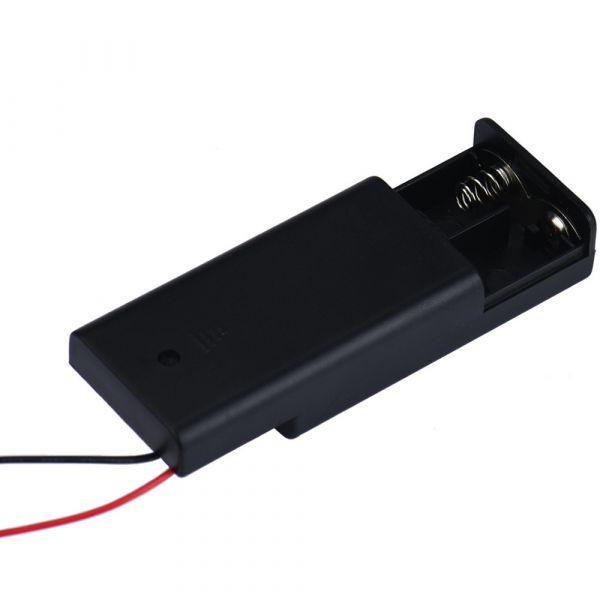 Batteriehalter 2x AA 3V mit An/Aus-Schalter