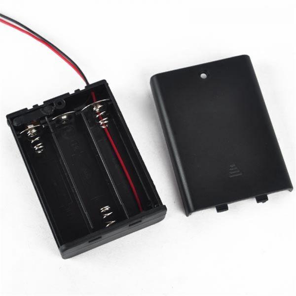 Batteriehalter für 3x AA Batterien 4,5V mit An/Aus-Schalter