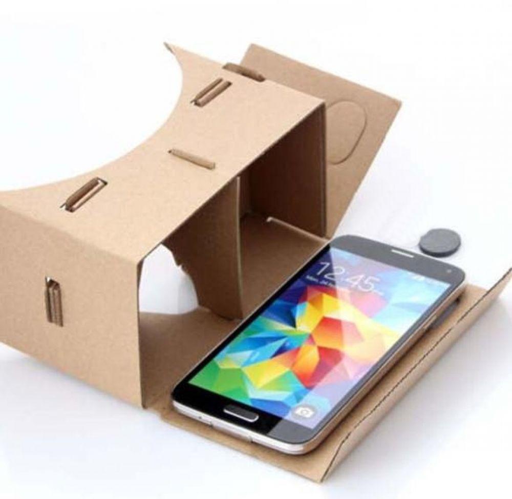 diy cardboard 3d vr virtual reality brille f r google android iphone kopfband ebay. Black Bedroom Furniture Sets. Home Design Ideas