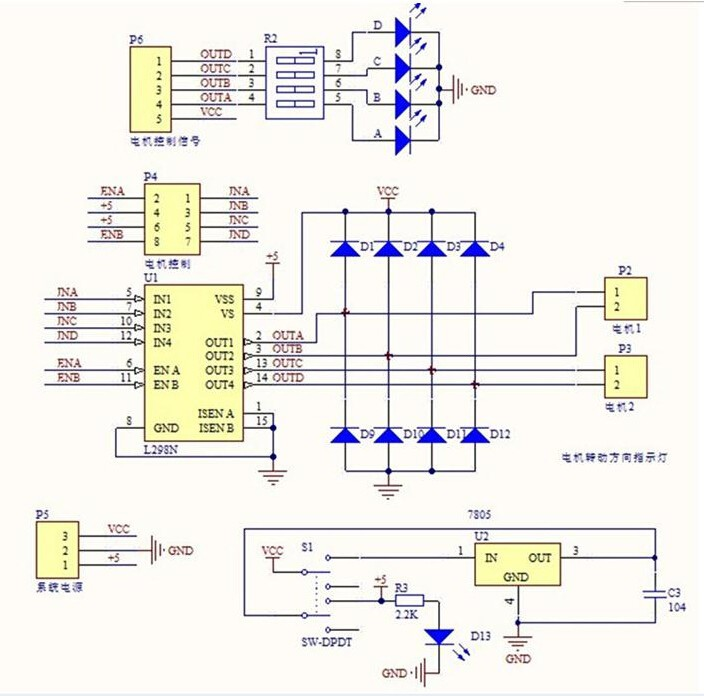 L298N Motortreiber Dual H Brücke Motor Driver Arduino Raspberry Pi ...