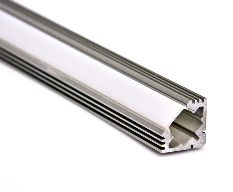led aluminium profil schiene mit abdeckung f r led streifen winkel 1m ebay. Black Bedroom Furniture Sets. Home Design Ideas