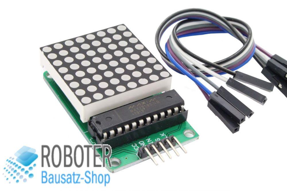 max7219 8x8 punkt matrix led modul 3mm f r arduino raspberry fertig aufgebaut ebay. Black Bedroom Furniture Sets. Home Design Ideas